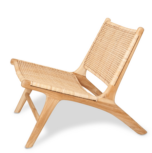 BORO CHAIR Natural Rattan & Unfinished Teak
