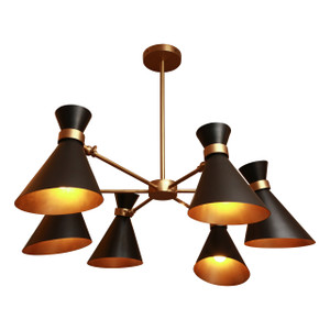 PEGGY BLACK CHANDELIER - SIX SHADES black