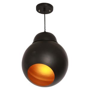 Ball black pendant -  Matt finish
