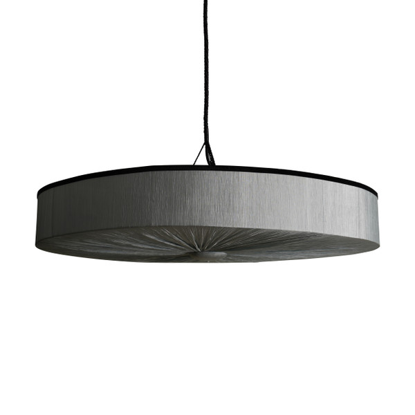 Pleated silk Grey PS51 / Lamp switch off