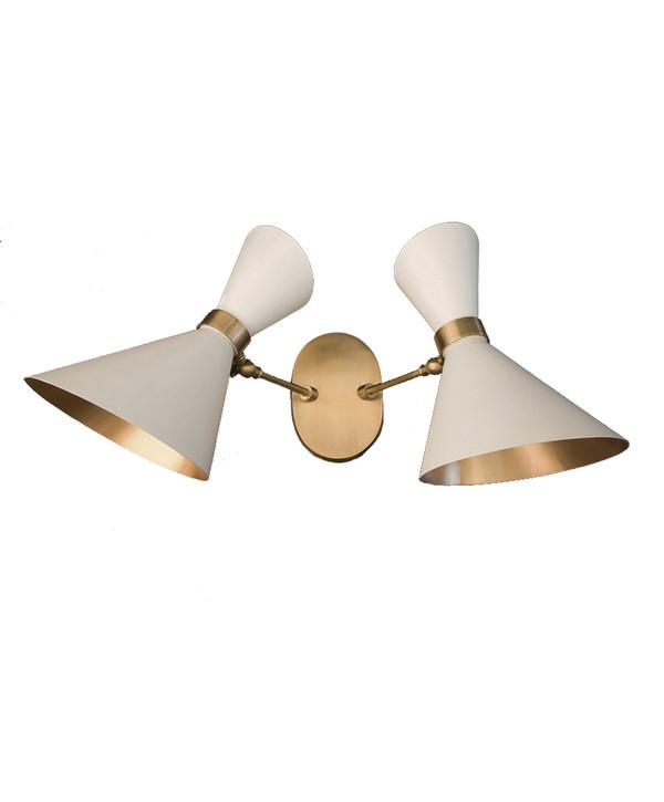 GC-021- DAMAGED - PEGGY UP & DOWN TWIN WALL LAMP - White  - DA-340