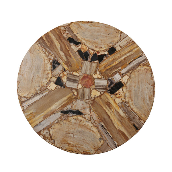 PETRIFIED WOOD TABLE TOP ONLY MIRO