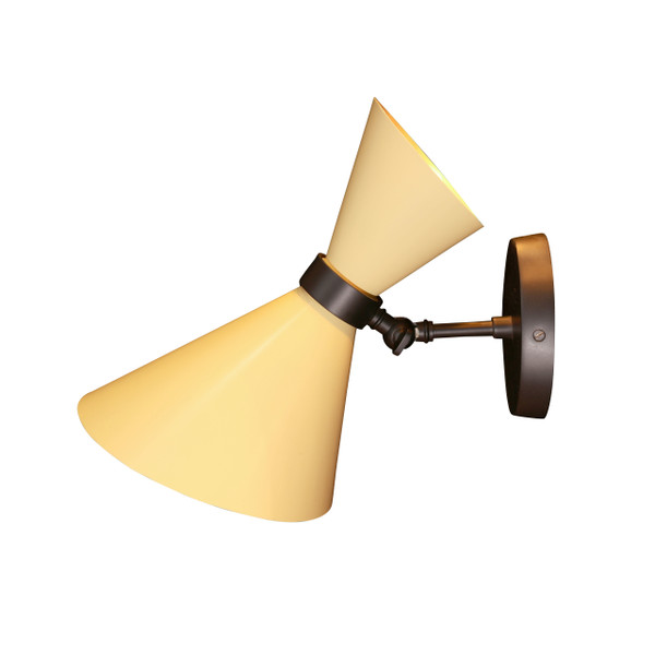 GC-017 YELLOW & BLACK - PEGGY UP & DOWN WALL LAMP