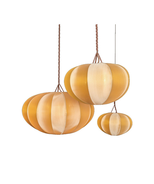 DAMAGED - PUMPKIN Silk Lamp Small - DA-154