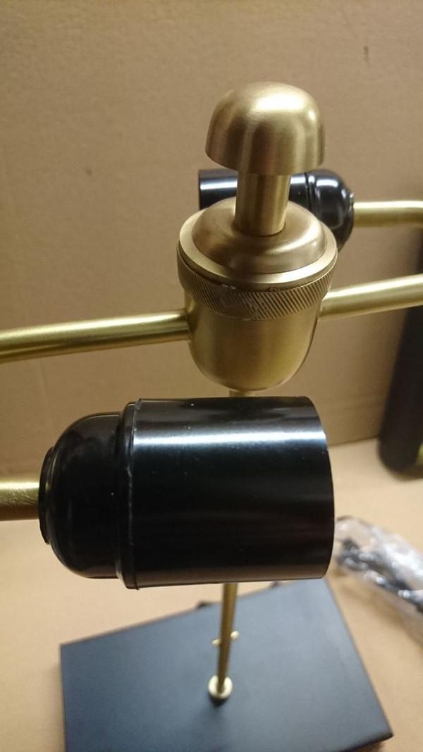 SE-002 - DAMAGED - SEDNA TABLE LAMP (R) -  MATT BRASS/BLACK -DA-421
