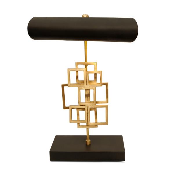 SE-001 - DAMAGED - SEDNA SQUARE TABLE LAMP (S) -  MATT BRASS/BLACK -DA-425