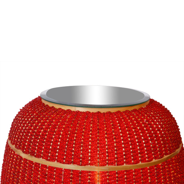 LUCIOLE Red Floor Lamp - Top view