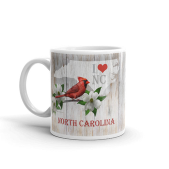 I Love North Carolina Coffee Mug