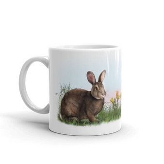 Rabbit in Springtime Mug