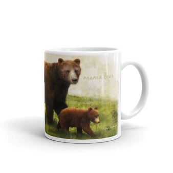 Mama Bear Walking with Cubs Mug