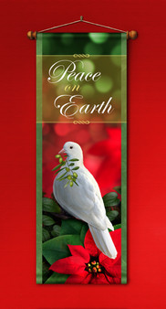 Peace on Earth Banner with White Dove