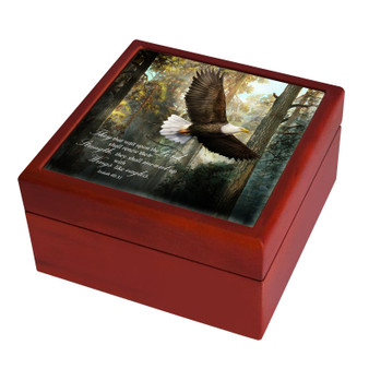 "Isaiah 40:31 ""Soar on Wings like Eagles"" Keepsake Box"
