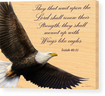 "Isaiah 40:31 ""Soar on Wings like Eagles"" Wood Panel"