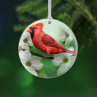 Cardinal Porcelain Christmas Ornament