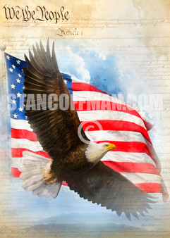 We the People ... Constitution with American Flag and Eagle (Digital Download)