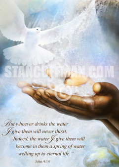 John 4-14 whoever drinks the water I give them will never thirst (Digital Download)