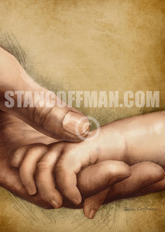 Child Holding Fathers Hand (Digital Download)