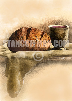 Communion with Bread and Wine (Digital Download)