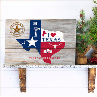 Texas on Plank Board
