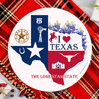 Texas Round Glass Cutting Board