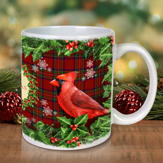 Cardinals The Christmas Bird Mug