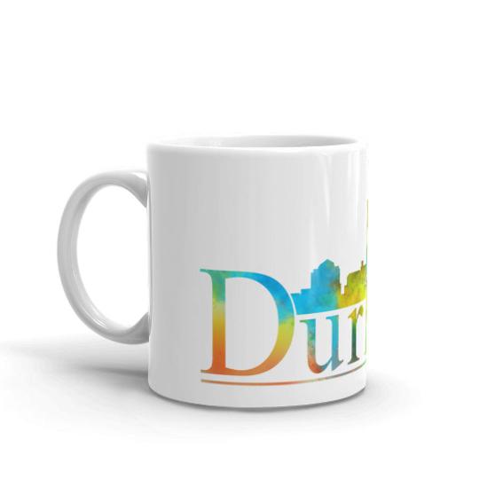 Durham Watercolor Skyline Coffee Mug