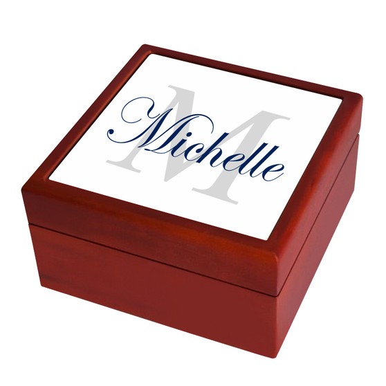Personalized Monogram and Name Keepsake Box