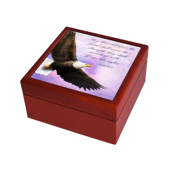 "Isaiah 40:31 ""Soar on Wings like Eagles"" Keepsake Box II"