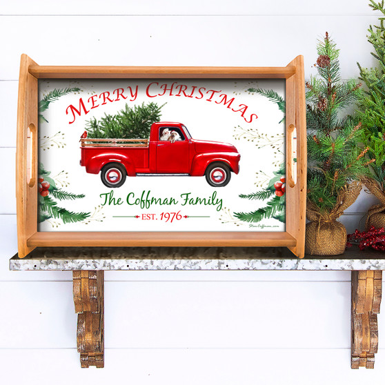 Personalized Red Truck Serving Tray