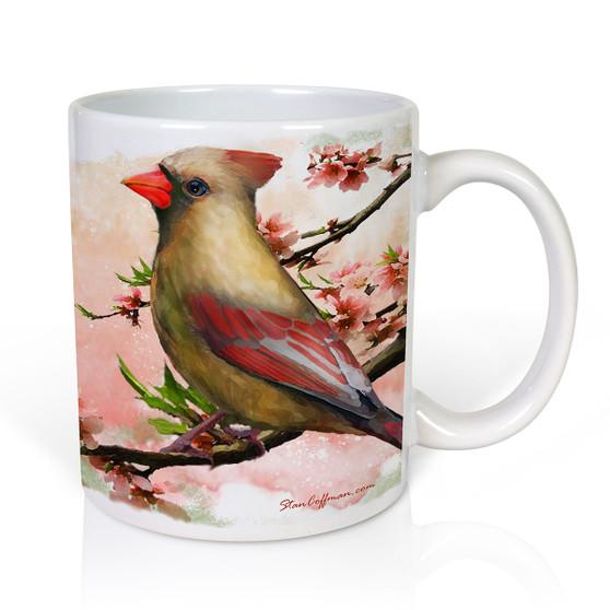 Male and Female Cardinals Valentine Mug