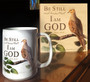 Be Still and Know that I am God Wood Panel and Mug
