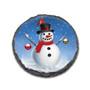 "Snowman 4"" Round Slate Coaster"