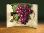 Grapes Artwork on Curved Acrylic Panel, 8x10