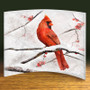 Cardinals Artwork on Curved Acrylic Panel, 8x10