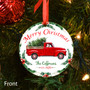 Personalized Red Truck Christmas Ornament