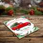 Personalized Red Truck Drink Coaster