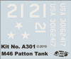 M-46 Patton Tank Plastic model kit 1/48