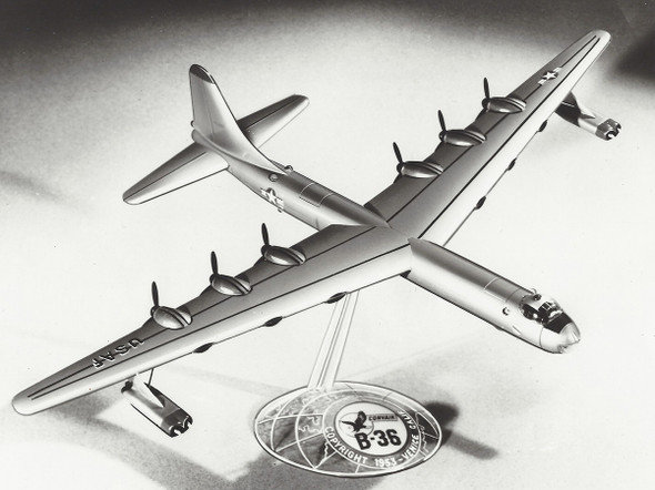 B-36 Peacemaker 1/184 Plastic Model Kit with Swivel Stand