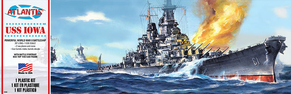 USS Iowa Big Battleship BB-61 Plastic Model Kit Atlantis