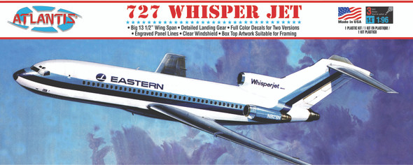 Boeing 727 Whisper Jet Plastic Model Kit 1/96