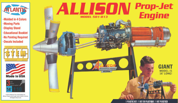 Allison 501-D13 Prop Jet Aircraft Engine Plastic Model Kit 1/10