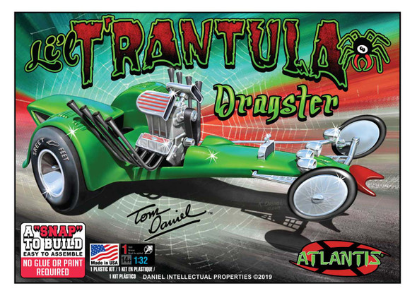 Tom Daniel Lil Trantula Show Rod Snap Plastic model kit 1/32