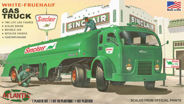 White Fruehauf Gas Truck Sinclair US Army NEW GLASS Plastic Model kit 1/48