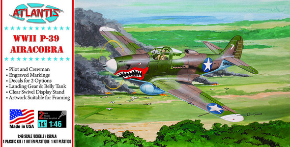 PREORDER P-39 Bell Airacobra WWII Fighter 1/46 Plastic Model Kit