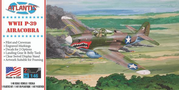P-39 Bell Airacobra WWII Fighter 1/46 Plastic Model Kit