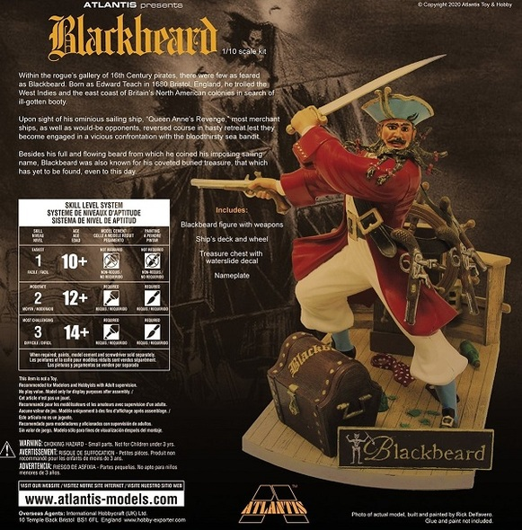 Blackbeard the Bloodthirsty Pirate 1/10 Plastic Model Kit