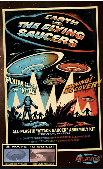 Earth vs The Flying Saucers Plastic Model kit with Backdrop