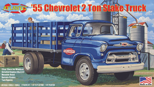 1955 Chevrolet Stake Truck 1/48 Plastic Model Kit
