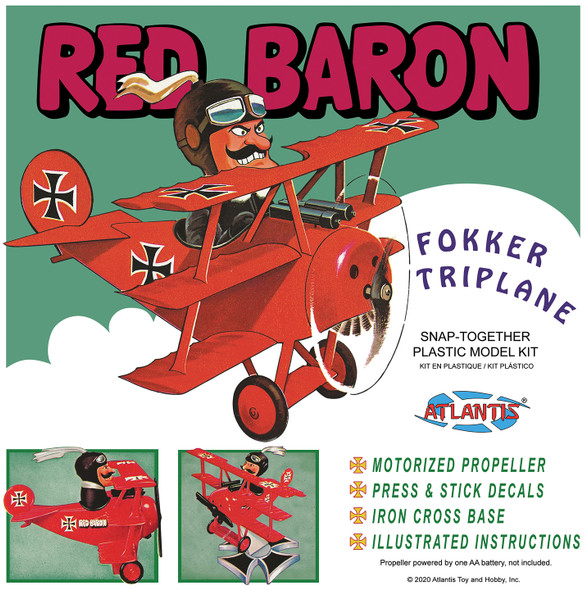 Red Baron Fokker Triplane with Motor SNAP