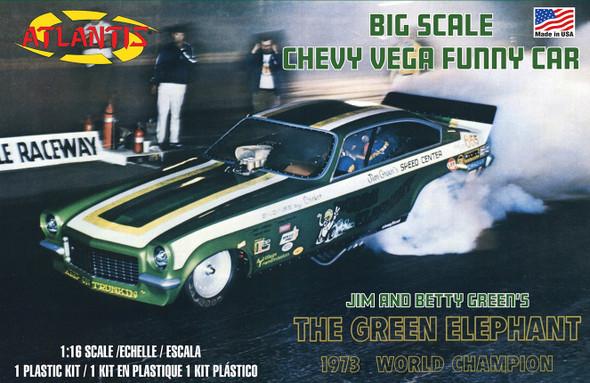 Green Elephant Chevy Vega Funny Car 1/16 Model Kit